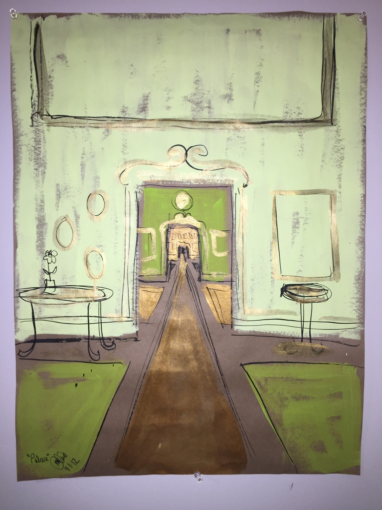 painting of hallway