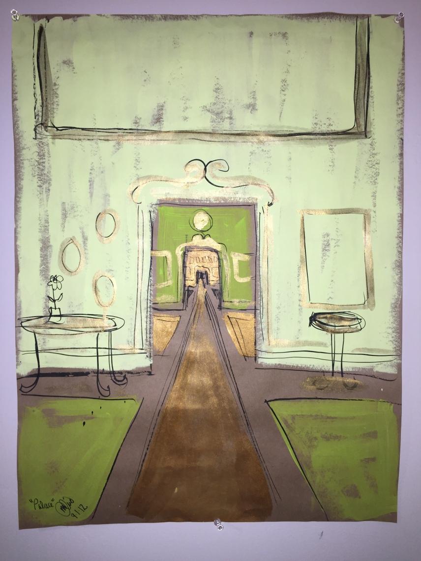 painting of hallway