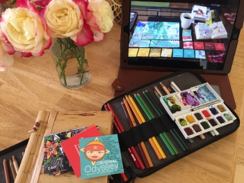 indoor art therapy setup