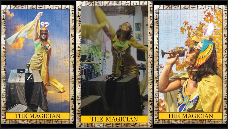 foreverbird.com magician isis tarot card costume