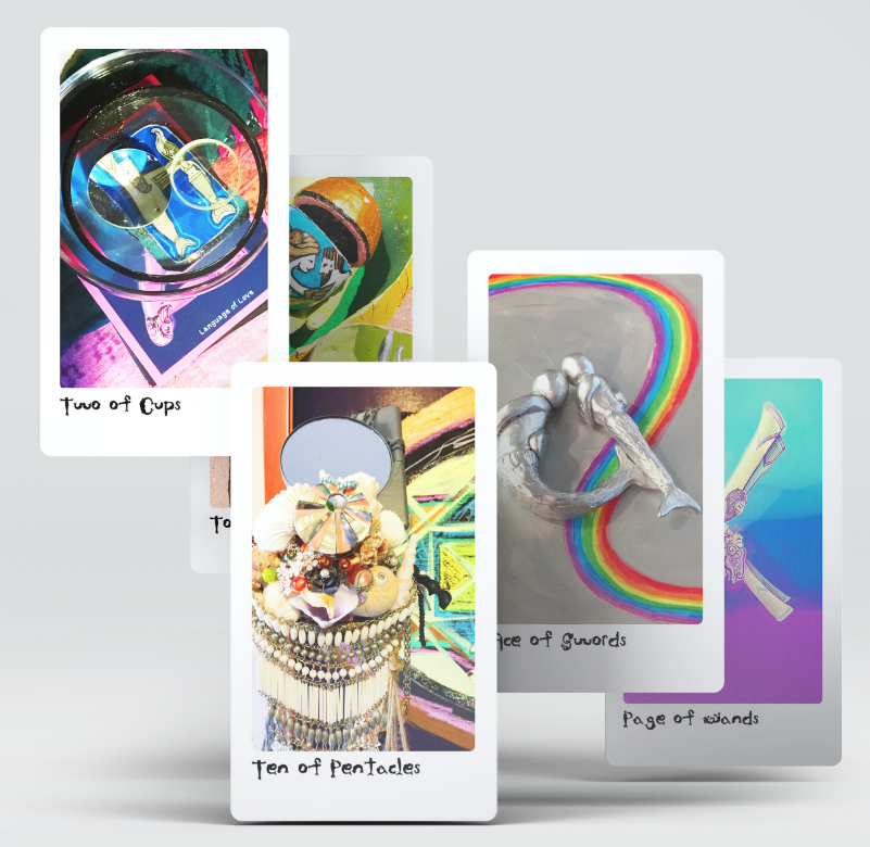 mermaid type tarot party edition sample cards