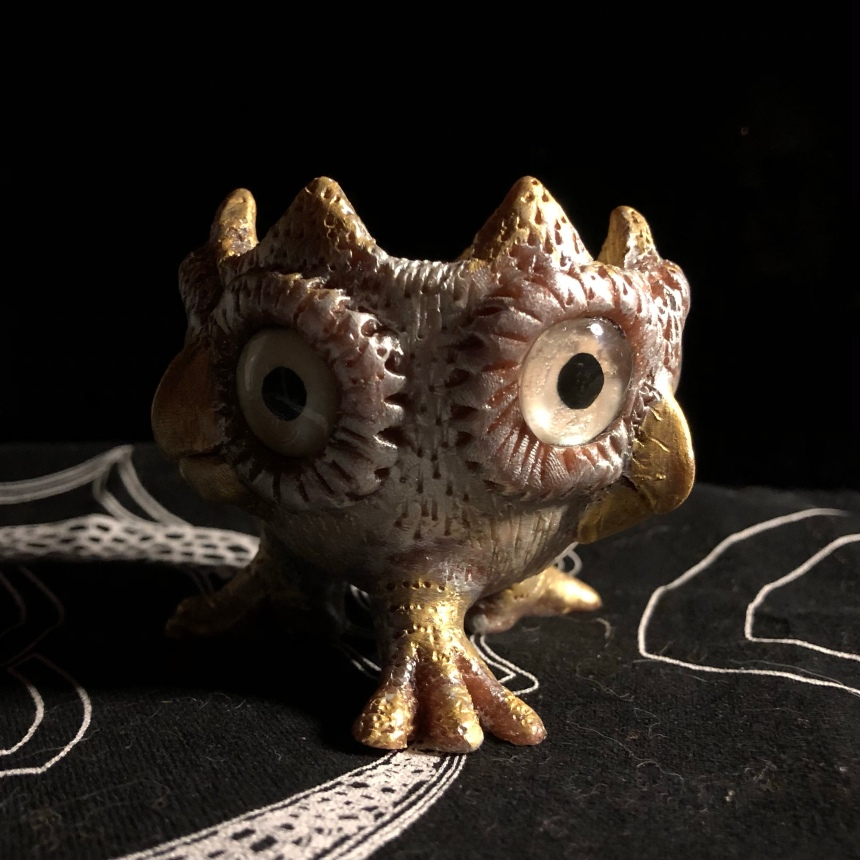 Owl decorative bowl by Mitra Cline